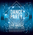 dance party invitation vector image vector image