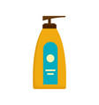 dispenser lotion sun icon flat style vector image vector image