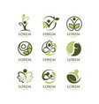 eco people logo set vector image vector image