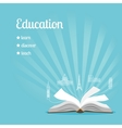 Education background with text vector image vector image