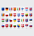 european countries tooltip pointer flag europe vector image