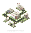 Factory Infrastructure Isometric vector image vector image