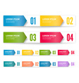 Folded cardboard labels vector image
