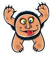 Foolish cartoon monster vector image vector image