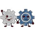gears kawaii icon image vector image vector image