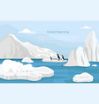 global warming abstract concept vector image