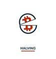 halving icon creative two colors design from vector image vector image