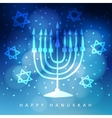 Hanukkah greeting card invitation with hand drawn vector image vector image