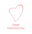 happy valentines day heart background vector image vector image