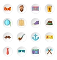 Hipster icons cartoon style vector image vector image