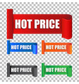 hot price sticker label on isolated background vector image vector image