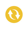 icon double reverse arrows in color circle vector image vector image