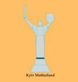 icon motherland mother kiev ukraine vector image vector image