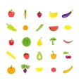 Icons set vegetarian products vector image vector image