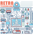 infographics elements concept retro technology vector image vector image