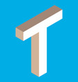 isometric letter t vector image