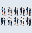 isometric set businessmen and businesswomen vector image vector image