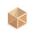isometric wooden box vector image vector image