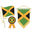 jamaica flags vector image vector image