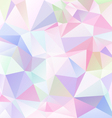 light pastel colored abstract polygon triangular vector image vector image