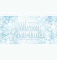 merry christmas greeting card with 3d vector image vector image