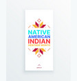 native american indian heritage month - november vector image vector image