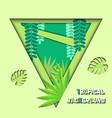 papercut tropical 02 vector image vector image