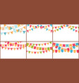 party bunting birthday flags banner color vector image vector image