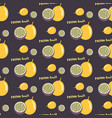 passion fruit or maracuya seamless repeating vector image