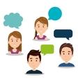 people talking speech communication vector image vector image