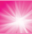 pink white rays texture background vector image vector image