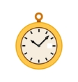 Pocket watch icon in flat style vector image vector image