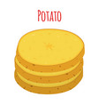 potato vegetable organic cartoon style vector image