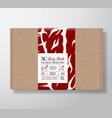 premium quality beef steak craft cardboard box vector image