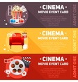 Realistic cinema movie poster vector image vector image