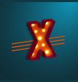 retro style letter x vector image