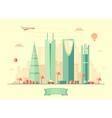 Riyadh skyline flat design vector image vector image