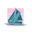 sailing ship logo vector image