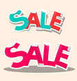 Sale Titles - Retro Stickers vector image vector image