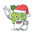 santa green grapes mascot cartoon vector image vector image