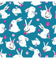 seamless bright pattern of easter bunnies vector image vector image