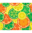 seamless pattern oranges lemons and limes vector image