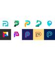 set of letter p logo vector image vector image