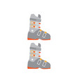 ski boots accessory for extreme ski sport vector image vector image