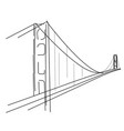 symbolic sketch of golden gate in san francisco vector image