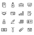 thin line icons - business vector image