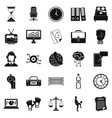 timer icons set simple style vector image vector image