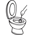 Toilet Cleaning Icon vector image vector image