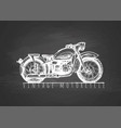 vintage motorcycle on blackboard vector image vector image