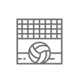 volleyball net with ball sand beach line icon vector image